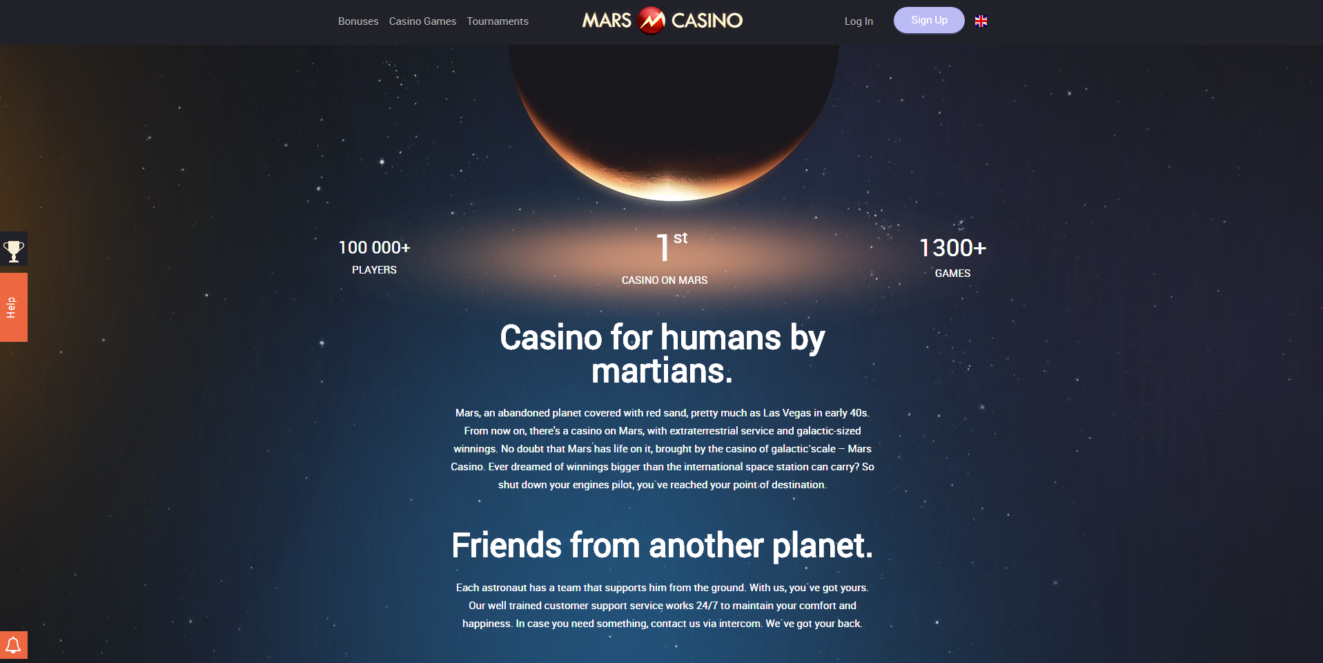 mars casino about page