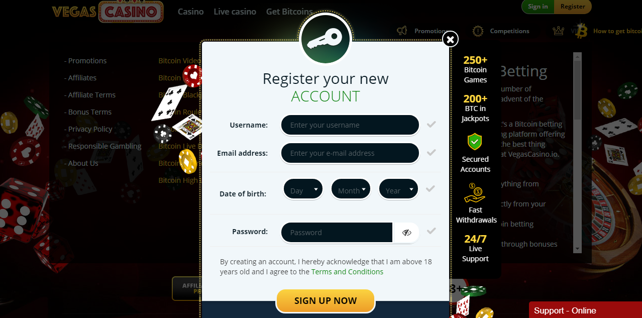 VegasCasino.io review