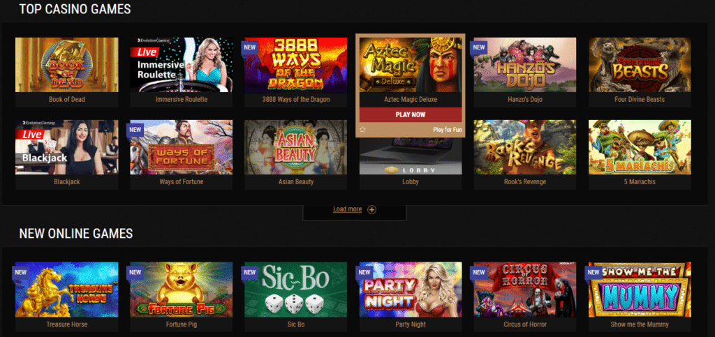 King Billy Casino - Games