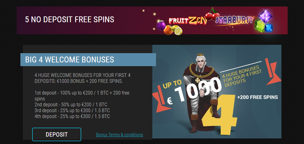 King Billy Casino - Promotions & Bonuses