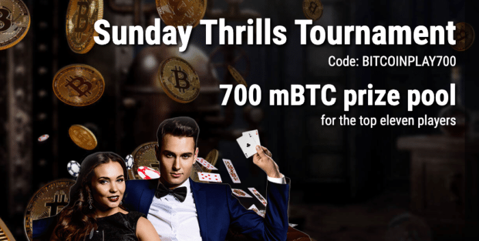 sunday thrills tournament cryptothrills bitcoinplay