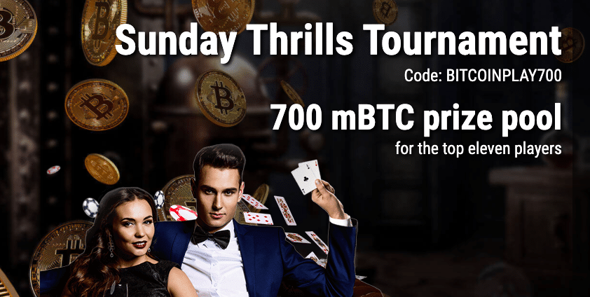 sunday thrills tournament cryptothrills bitcoinplay